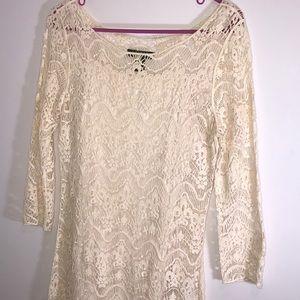 Ralph Lauren day dress & Target statement necklace
